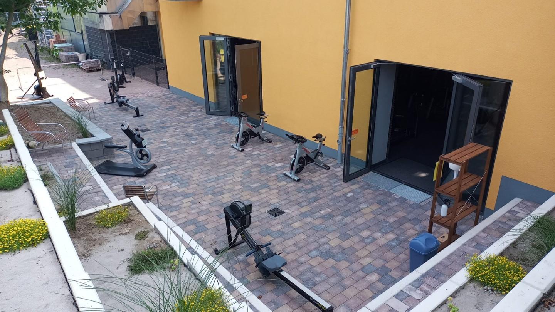 Cardiotraining auf unserer neuen Terrasse